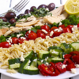 Greek Chicken and Orzo Salad.