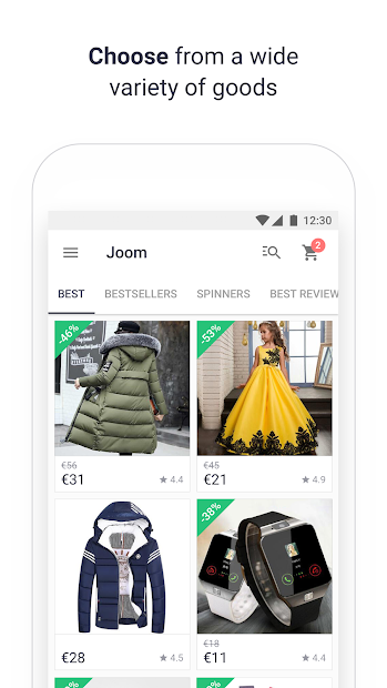 JOOM: Shop low price deals, clothes offers & gifts Android App Screenshot