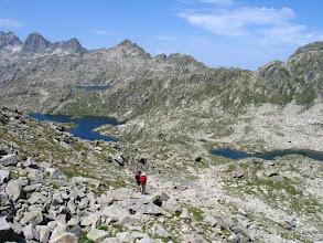 Photo: Vall de Boí:  estanys Mangades i de Port de Caldes amb la serra de Tumeneja al fons i al mig