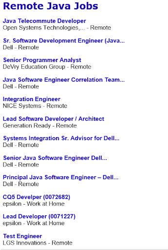 Remote Java Jobs