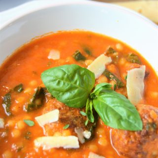 Amazing Tomatoes and meatballs soup.