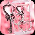Pink Love Lock Theme Valentine icon