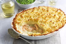 Fish Pie With Baked Cheese Custard