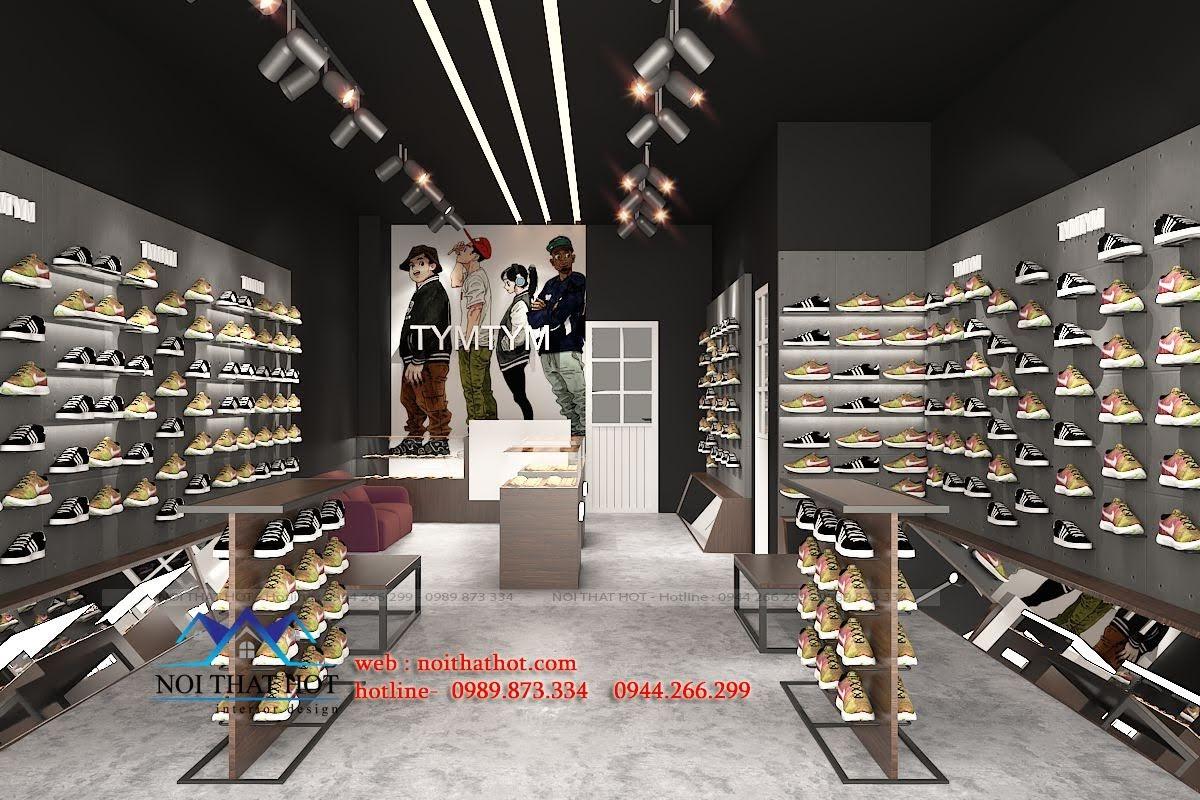 thiết kế shop giày nam 2