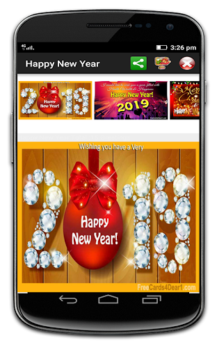 happy new year greetings 2019 android app screenshot