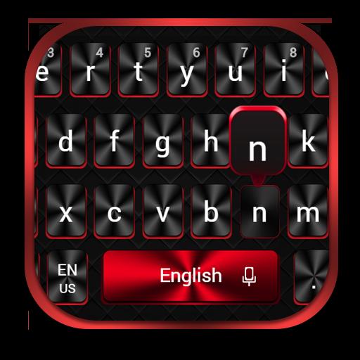 Cool Red Black Keyboard