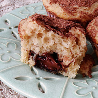 Cocoa Sugar Crusted Muffins with Nutella Filling.