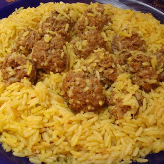A Great One-Dish Meal - Moroccan Spiced Meatballs with Saffron Rice