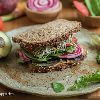 Loaded Veggie Hummus Sandwich.