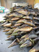 Photo: Satar found commonly at roadside stalls. BBQ fish meat blended with lots of dessicated coconut