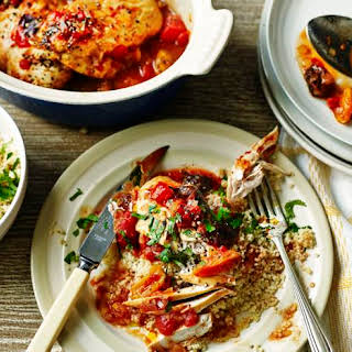 Moroccan-style Chicken With Couscous And Yoghurt.