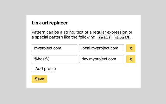 Link url replacer