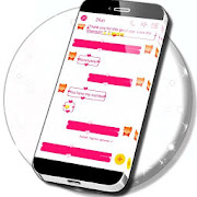 Pink Hearts SMS Theme