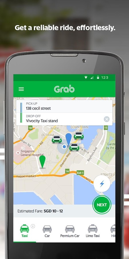 Grab (GrabTaxi)- screenshot