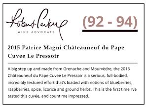 La Cuvée le Pressoir notée 94 par The Wine Advocate