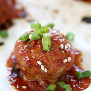 Asian Turkey Meatballs with Gochujang Glaze.