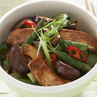 Asparagus and Tofu Stir Fry.