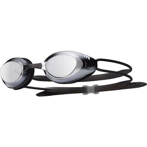 TYR Blackhawk Mirrored Goggle: Silver Frame/Black Gasket/Metallized Silver Lens