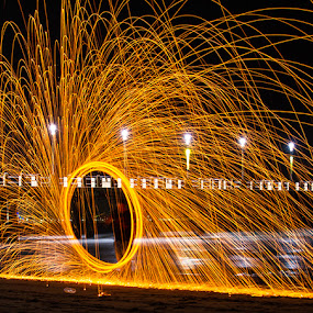Fireworks at Moyo by Ian Damerell - Abstract Fire & Fireworks ( abstract, light painting, fireworks, night, fire, new year, dipawali, diwali, 2014 )