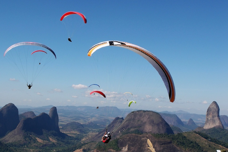 Brazil winter tours with FlySpain paragliding