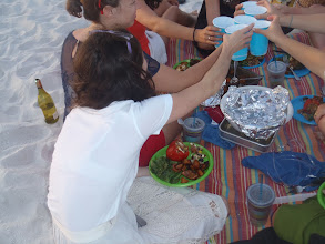 Photo: last dinner picnic on the beach