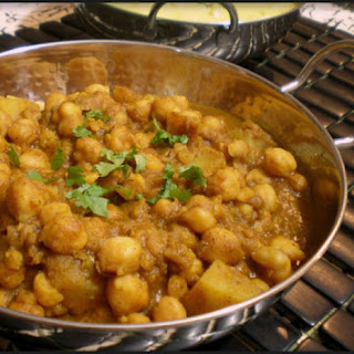 Chickpea and Potato Dahl.