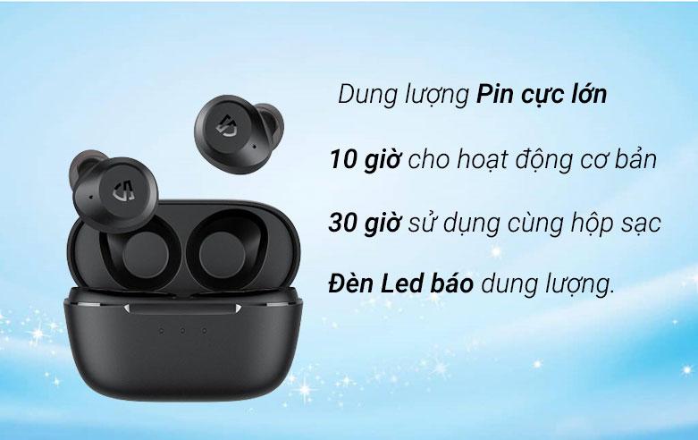 Tai nghe Bluetooth True Wireless Soundpeats T2 (Đen) | Dung lượng pin cực lớn