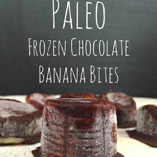 Paleo Frozen Chocolate Banana Bites