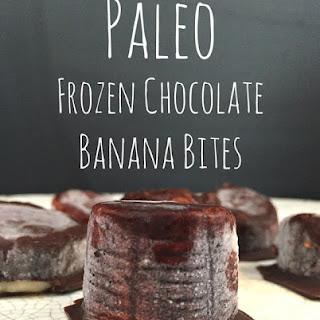 Paleo Frozen Chocolate Banana Bites
