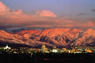 Photo: Sunset Skyline of Salt Lake