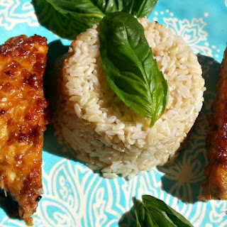 Lemon Glazed Ginger Tempeh With Brown Rice and Fresh Basil [Vegan, Gluten-Free]