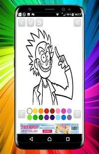 Rick and Morty Coloring Book - náhled