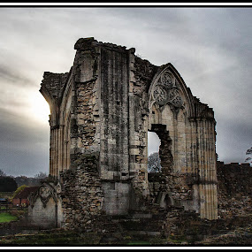 Ruined Abbey. by Griff Johnson - Buildings & Architecture Places of Worship ( sky, ruin, trees, hull, landscape, abbey )