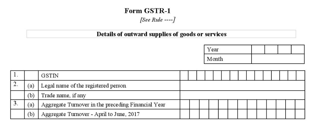 form gstr-1 tables