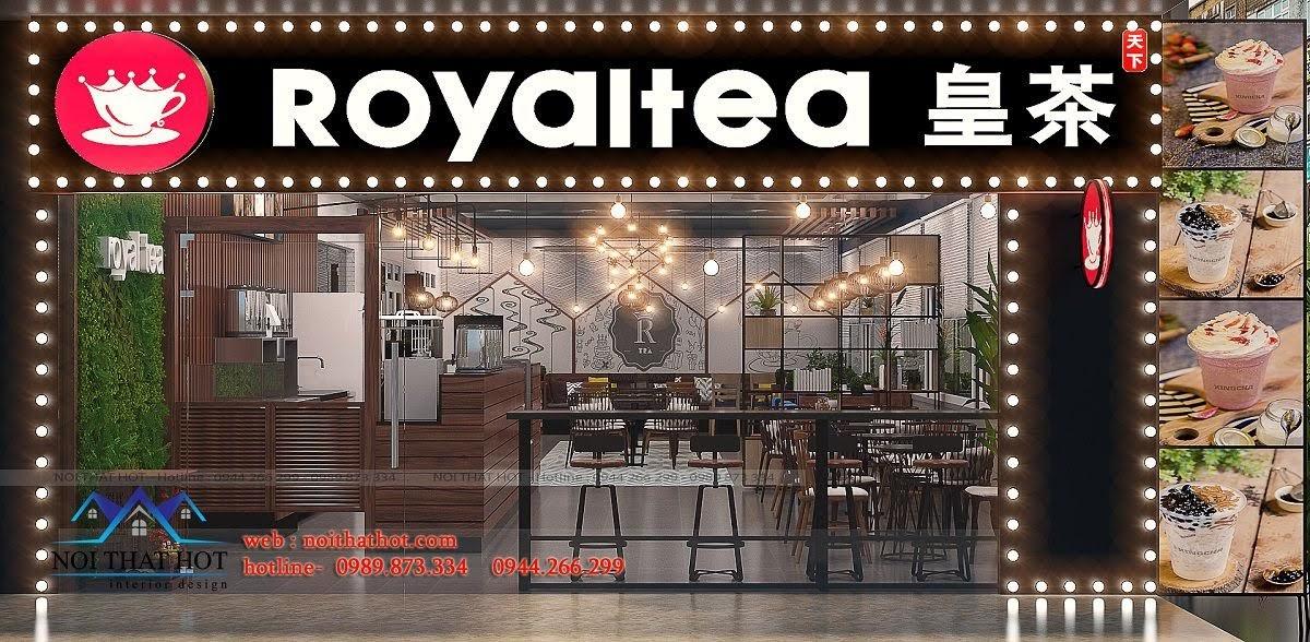 thiết kế quán trà sữa royal tea 1