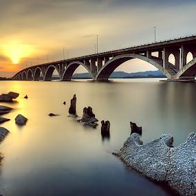 Queen Bainun Bridge, Lumut, Perak, Malaysia by Zaid Zaza - Landscapes Sunsets & Sunrises