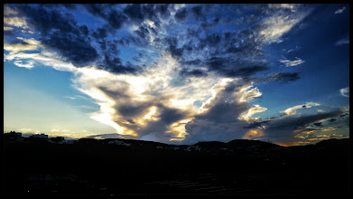 Photo: Sunset over Chihuahua City.