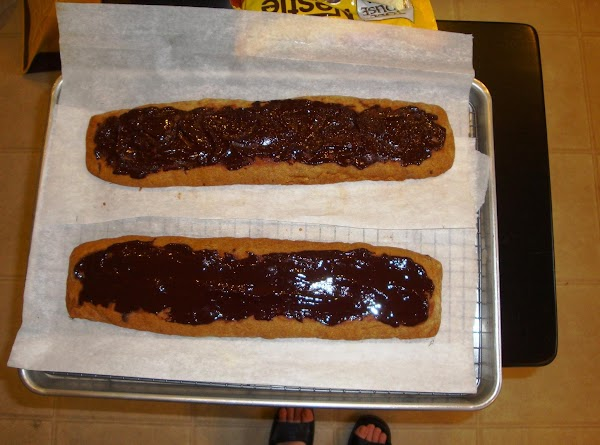 For the glaze, warm the reserved chocolate slightly. Stir in the corn syrup and...