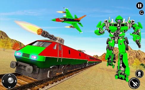 Futuristic Train Transforming Robot Games 2