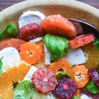Citrus Caprese Salad with Honey Vinaigrette.