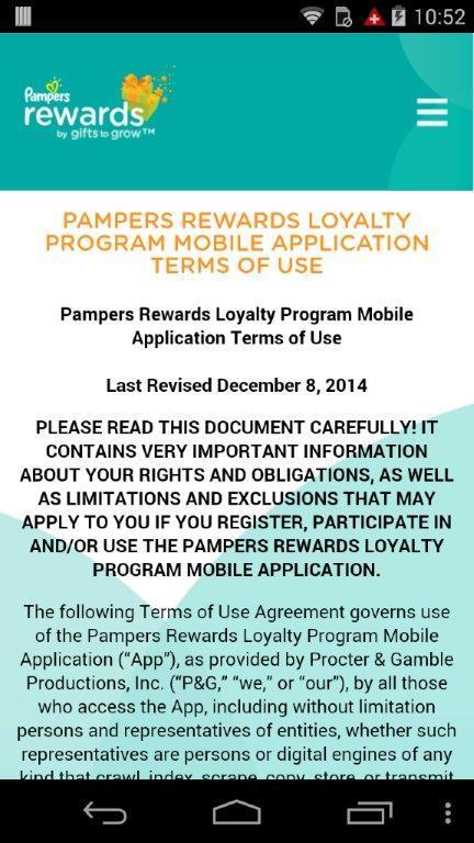 Pampers Rewards - screenshot