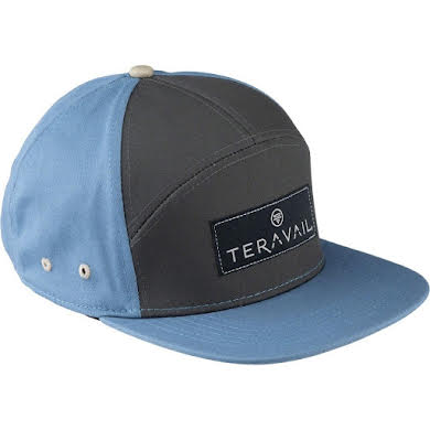 Teravail 7-Panel Cap: Turquoise/Dark Gray One Size