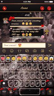 Cute Skull Emoji Keyboard Skin - náhled