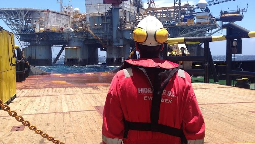 Imagen ofrecida por la empresa Hidramar Shipsyard, encargada del acondicionamiento de la plataforma.