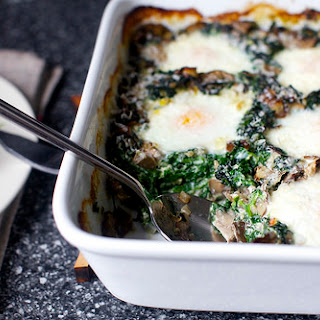 Baked Eggs With Spinach And Mushrooms Recipes