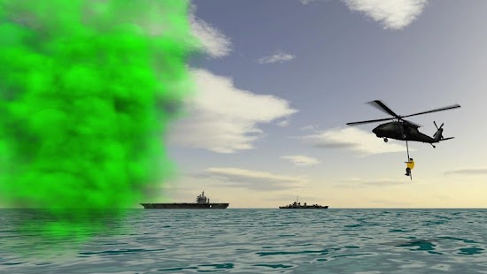 Carrier Helicopter Flight Simulator - Fly Game ATC Screenshot