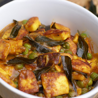 South Indian Style Paneer Mattar