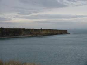 Photo: The 120 foot cliffs in the area give a sense of what the Rangers faced on that day.