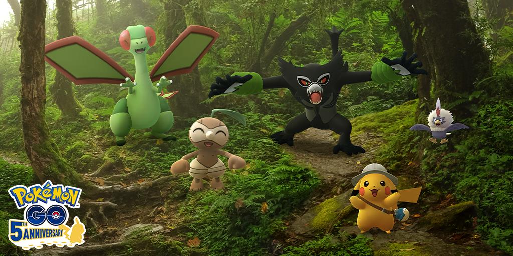 Das Mysteriöse Pokémon Zarude gibt sein Debüt in Pokémon GO zur Feier der weltweiten Veröffentlichung von Pokémon – Der Film: Geheimnisse des Dschungels