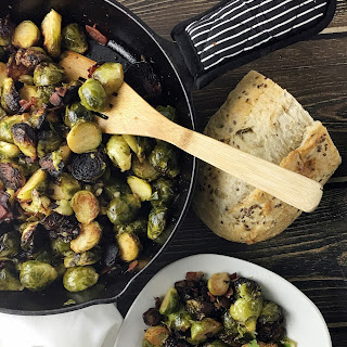 Caramelized Brussels Sprouts With Bacon and Barber Foods Cordon Bleu